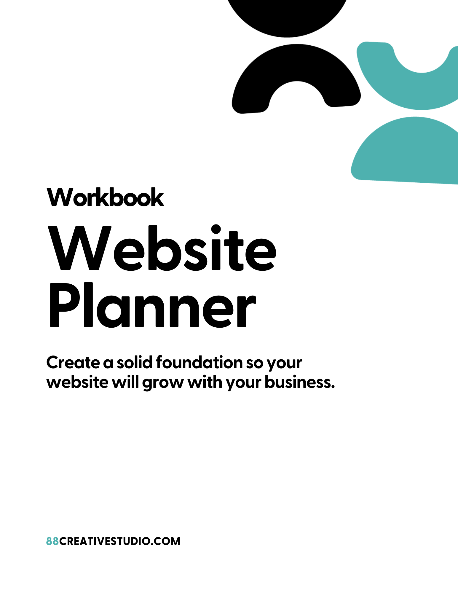 Workbook Cover - Website Planner